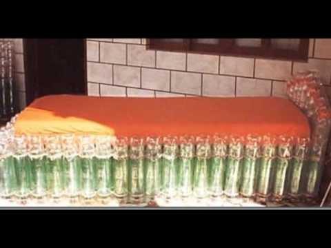 Диван из бутылок своими руками 95