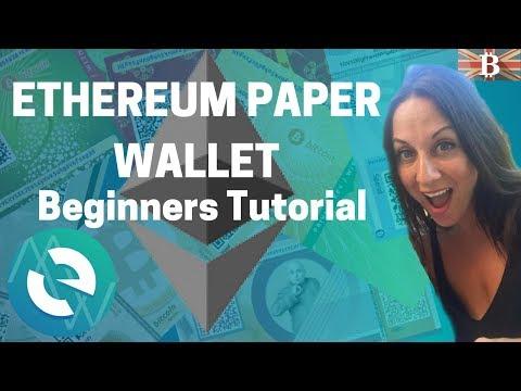 Ethereum Paper Wallet Guide - Beginners Tutorial
