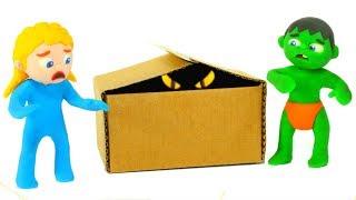 SUPERHERO BABIES & THE SURPRISE BOX ❤ Superhero Babies Play Doh Cartoons For Kids