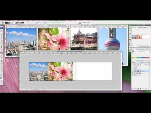 Photoshop banner with seamless soft edge - Tutorial Video