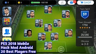 PES 2018 Mobile Hack Mod Android 20 Black Ball Pla