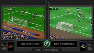 FIFA 96 (Sega Genesis vs Snes) Side by Side Comparison I Vc Decide