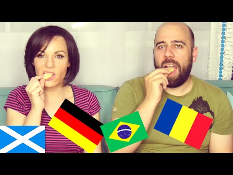 Españoles Probando dulces de muchos países - vlogs diarios - Isa & Vic - Blogs ❤️