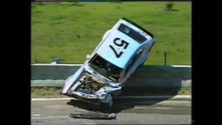 Old School Classic Vintage 80s Car Racing Crashes. Rare and unseen