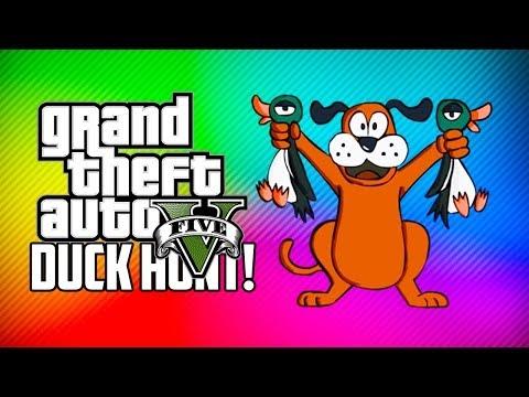 GTA 5 Online Funny Moments - Duck Hunt! (GTA V)
