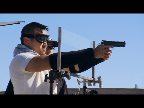 How Good A Shot Are You... When You're Blindfolded? | MythBusters: The Search