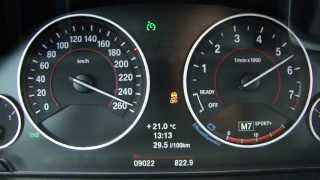 New BMW 328i Sport Touring F31 (2012) 0-258 km/h Acceleration (V-max)