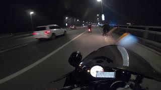 Clip Hot BMW S1000RR Quay Clip Cho Wave 110cc Bốc Đầu Trên Cầu Nhật Tân Hà Nội TBK Team