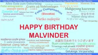 Malvinder   Languages Idiomas - Happy Birthday