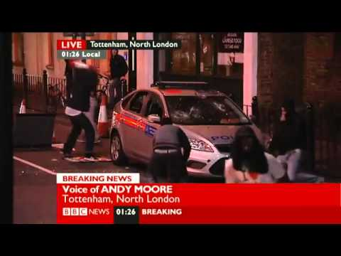 "UK - London Riots, BBC News: ""Andy, we'll leave it there"""