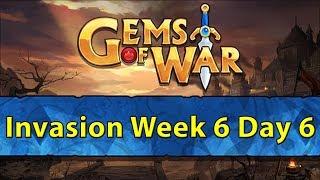 ⚔️ Gems of War Invasions | Week 6 Day 6 | The Last of 20% Worldbreaker ⚔️