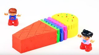 Learn Colors With Toys, Kinetic Sand, Play Doh And Slime
