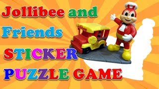 Sticker Puzzle Game with Jollibee and Friends (and Baby Shark Song)