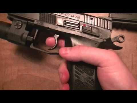 CZ 75 P-07 Duty .40 S&W with manual safety & TLR-3 Weapon light