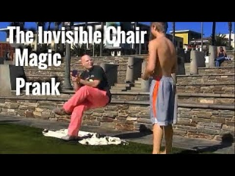 The Invisible Chair Magic Prank!