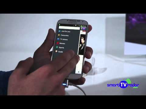 Samsung WatchON demonstration with Samsung Galaxy S4 and Samsung Smart TV