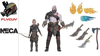 """NECA God of War - 7"""" Scale Ultimate Kratos & Atreus Figure Review 
