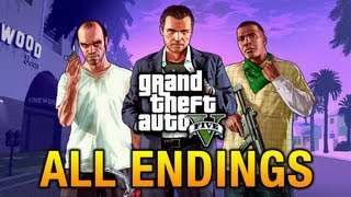 GTA 5 - All Endings - Final Missions - HD