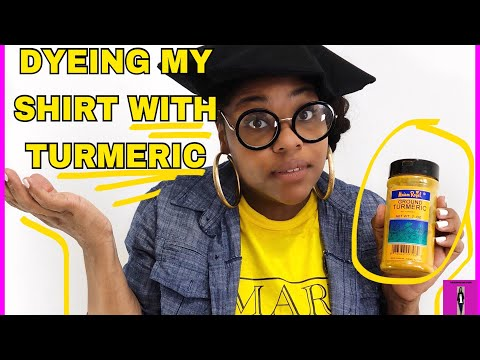 DIY| How to use Turmeric to dye your shirt| Modest Fashion Designer
