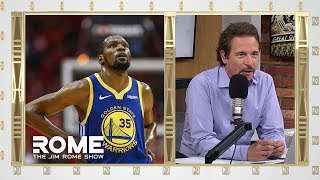 Kevin Durant Reported To Return By Game 3 | The Jim Rome Show