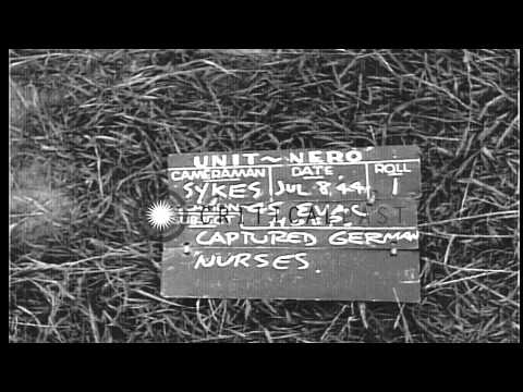 German and American nurses in Normandy,France during World War 2 HD Stock Footage