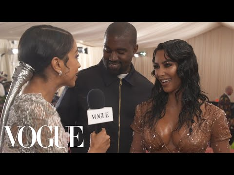 Kim Kardashian West & Kanye West on Her Ocean-Soaked Met Look | Met Gala 2019 With Liza Koshy