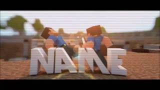 FREE AE & C4D Intro Template: 3D Animated Minecraft Sync Intro Template #388