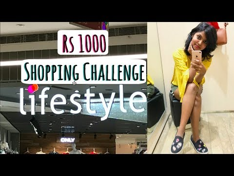 Rs 1000 Lifestyle Stores Shopping Challenge - Lifestyle Try On Shopping Haul | AdityIyer #adityvlogs