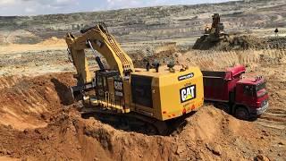 Cat 6015B Excavator Loading Trucks - Sotiriadis SA