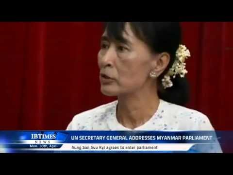 UN Secretary general addresses Myanmar Parliament