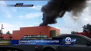 Solar Panels Catch Fire: Community Center Evacuated