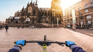 DOWNHILL MTB STREET TOUR in KÖLN / COLOGNE, GERMANY - Rose Bikes Soulfire 3 - Lukas Knopf