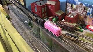 The Pink Panther rides at the Cumberland Valley Model Railroad Club