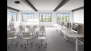 In this video S'mesh and Suzo show all possible configuration variables for a Smart Office. The short film exalts the great modular and assembly characteristics that the chair and table provide.