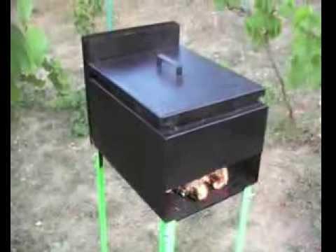 Коптильня горячего копчения из металла