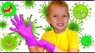 Тема и детские истории про вирусы | Правила поведения для детей