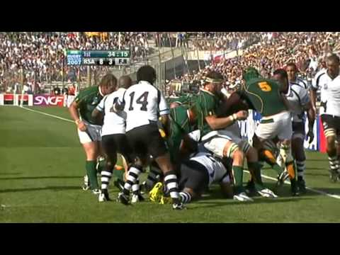 Rugby 2007. Quartefinal. South Africa v Fiji