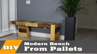 DIY Modern Pallet bench | DIY Build