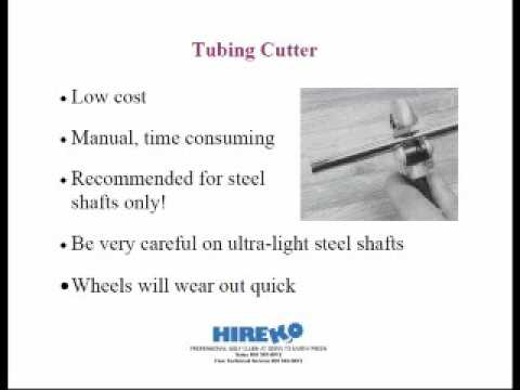 Hireko Shaft Cutting Webinar 1 of 4