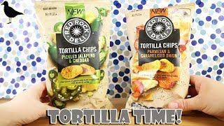 Red Rock Deli Tortilla Chips Food Tasting Review! Pickled Jalapeno Parmesan | Birdew Reviews