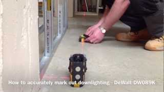 How To Mark Out Down Lighting Positions - DeWalt DW089K