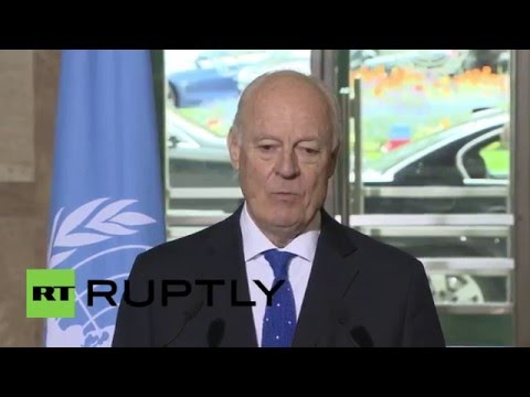 Switzerland: UN's de Mistura says humanitarian airdrops could replace land deliveries