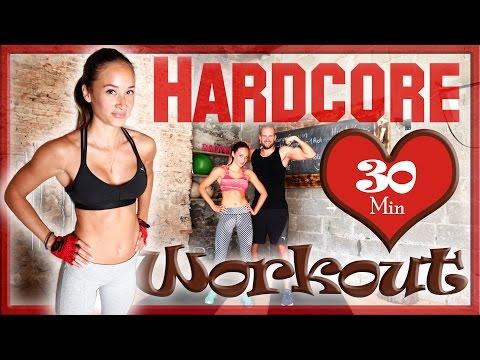30 Min Ultra Hardcore Workout - Fett verbrennen in 3 Stufen - Neue Art des HIIT