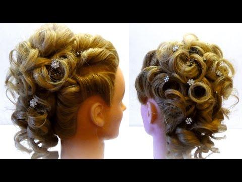 Свадебная,вечерняя прическа. Bridal updo. Hairstyle for long medium hair
