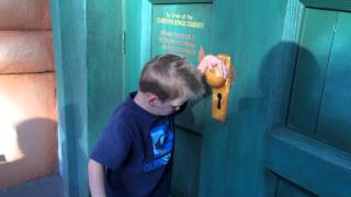Caution: DO NOT open this door!  Toon Town Pretend Electric Door at Disneyland