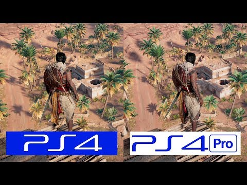 Assassins Creed Origins   PS4 VS PS4 Pro   GRAPHICS COMPARISON   Comparativa