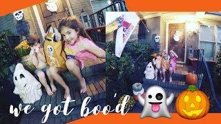 We got BOO'D, Neighborhood gifts, Halloween fun, Fall, Southern traditions