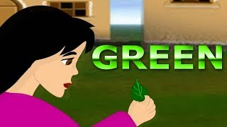 Green Color Song For Children | Learn Colors With Green Animation Videos For Kids