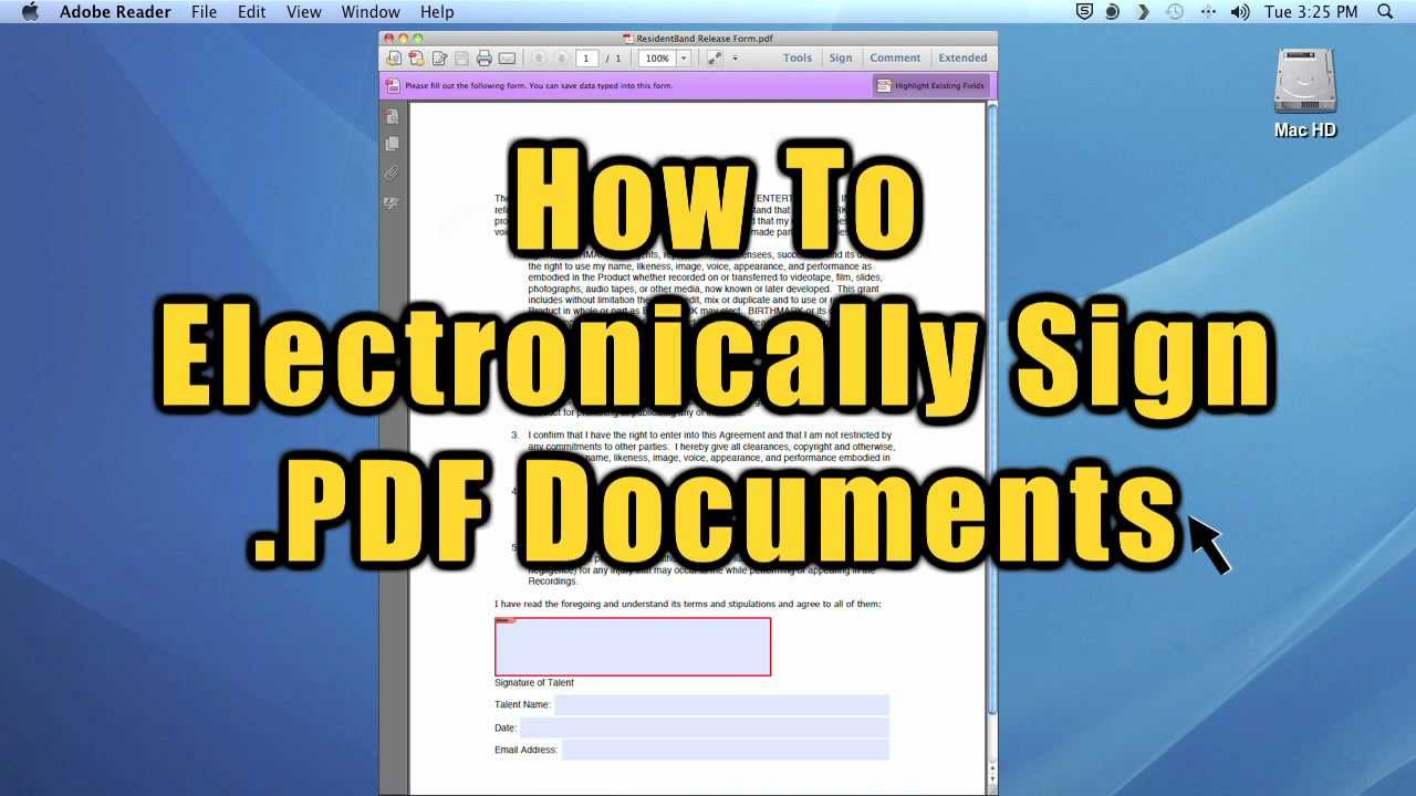 how to sign a pdf electronically
