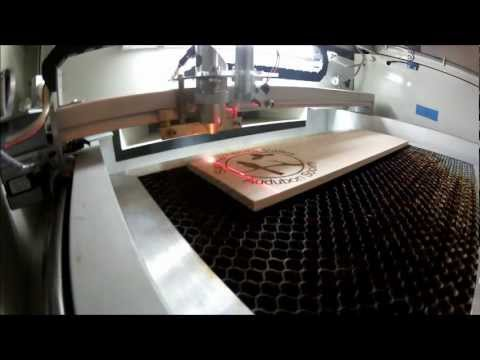 40 Watt CO2 Laser Cutting a Coaster